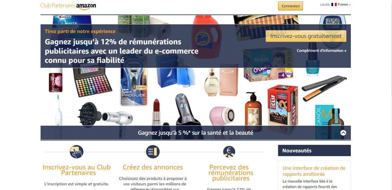 Page d'accueil Amazon.com