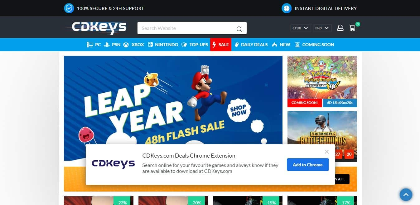 Page d'accueil CDkeys