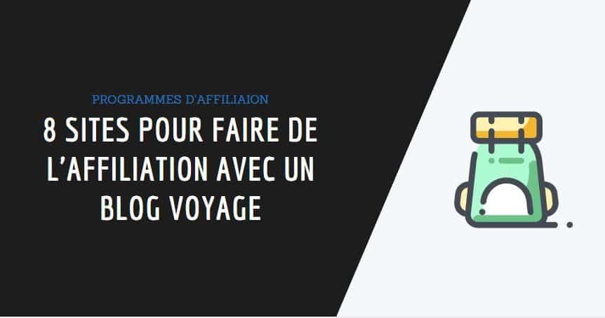 affiliation voyage couverture