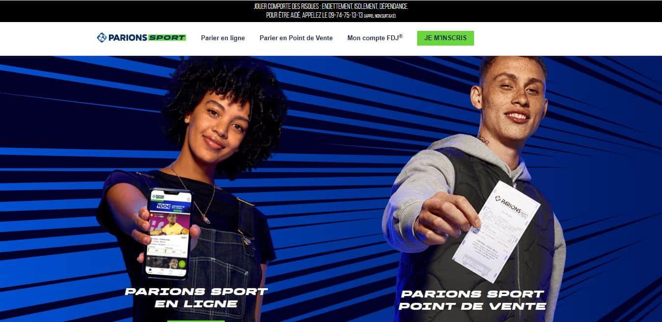 Page d'accueil Parionssport