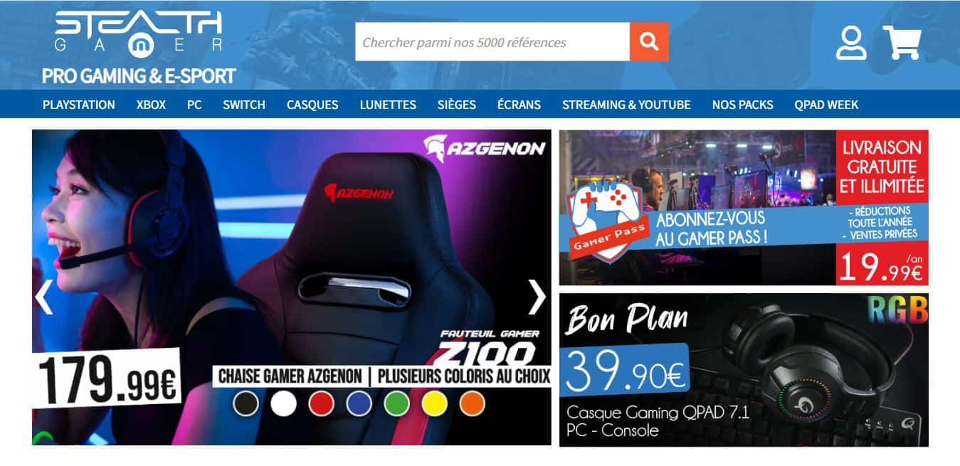 Page d'accueil Stealth-gamer