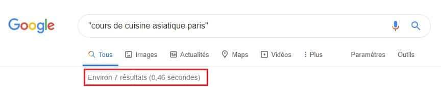 Recherche mot-clé exacte sur Google