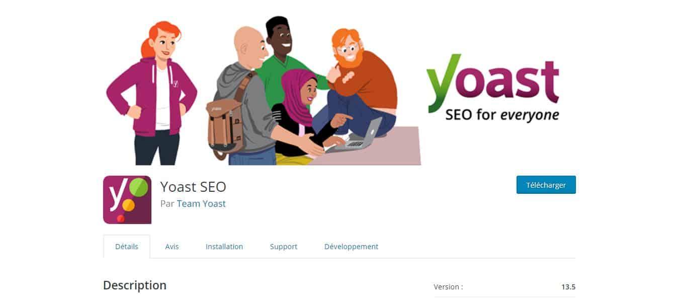 page de téléchargement yoast seo