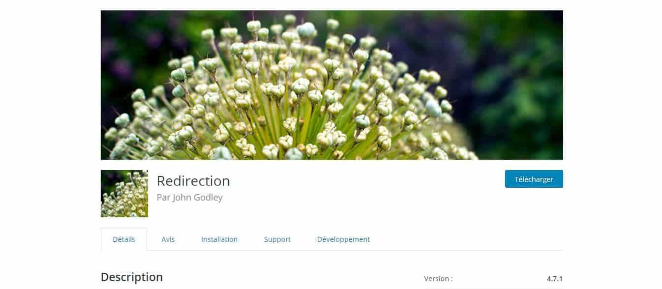 page de téléchargement redirection