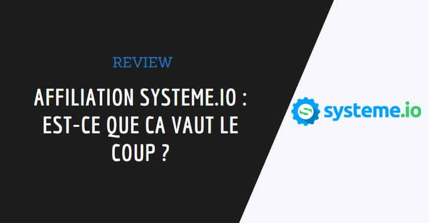 article affiliation systeme.io