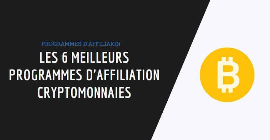 programme d'affiliation cryptomonnaies