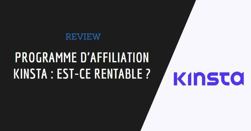 Couverture de l'article : programme d'affiliation kinsta