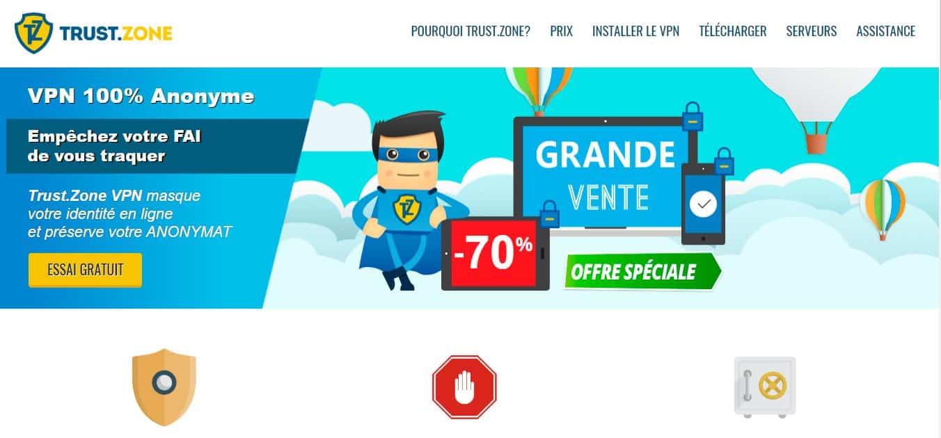 Page d'accueil trustzone