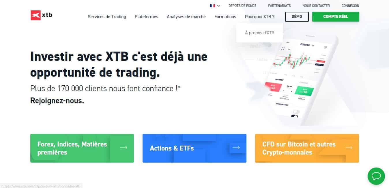 Page d'accueil XBT
