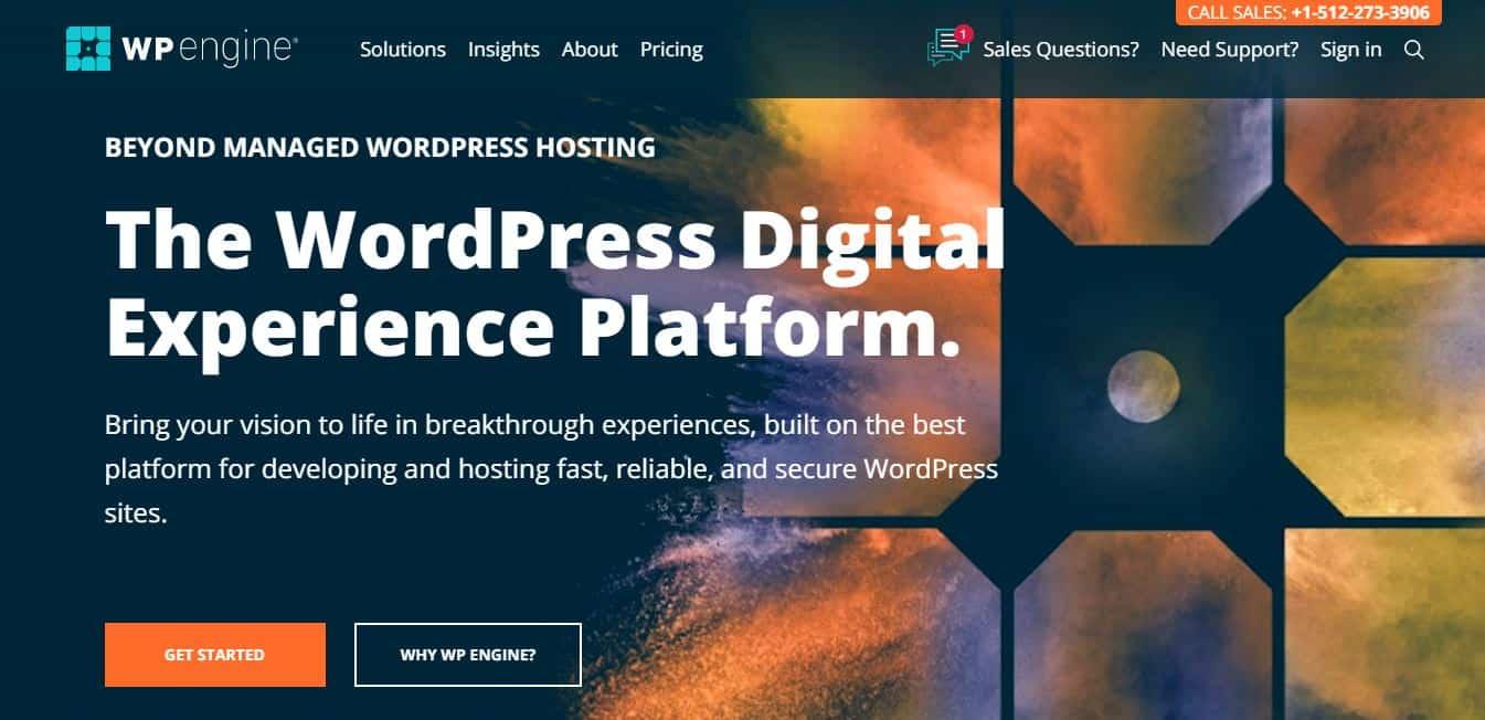 Page d'accueil WPengine