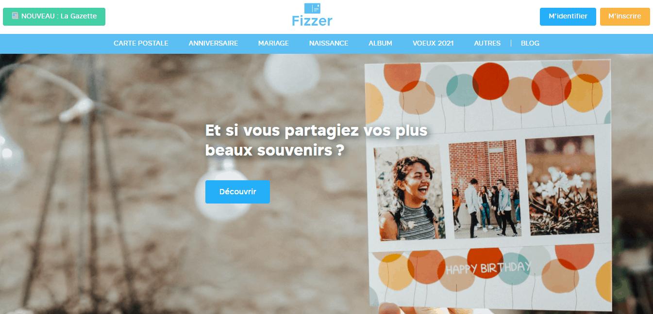 Page d'accueil Fizzer