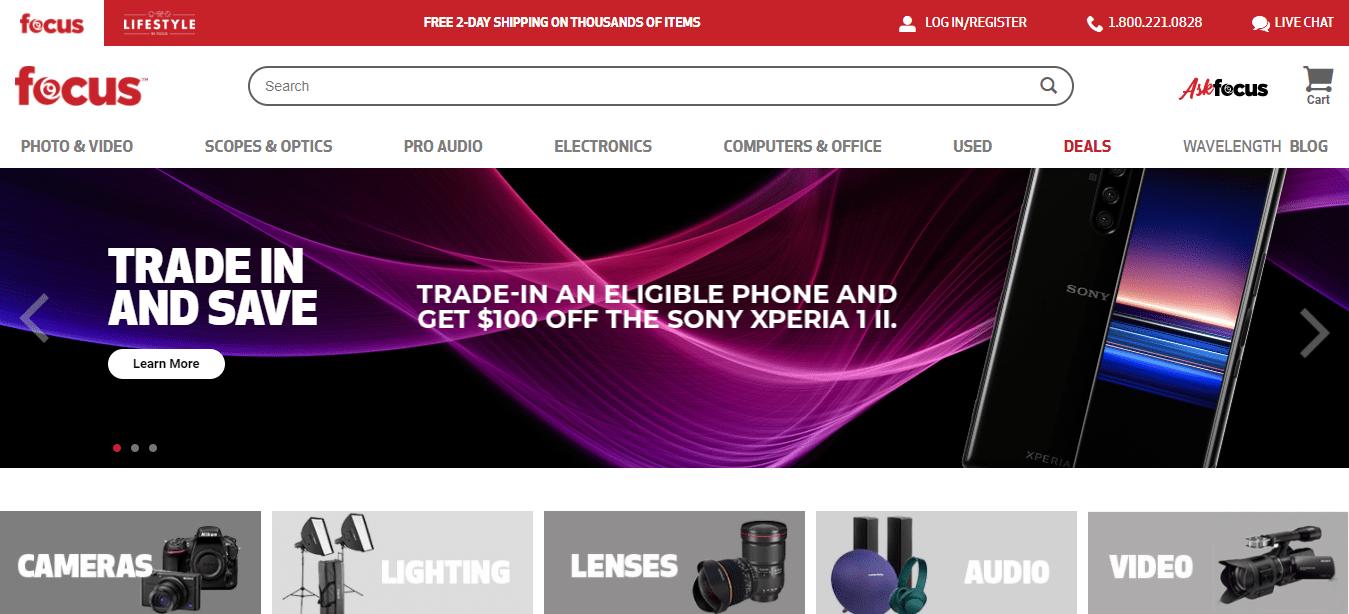 Page d'accueil Focus