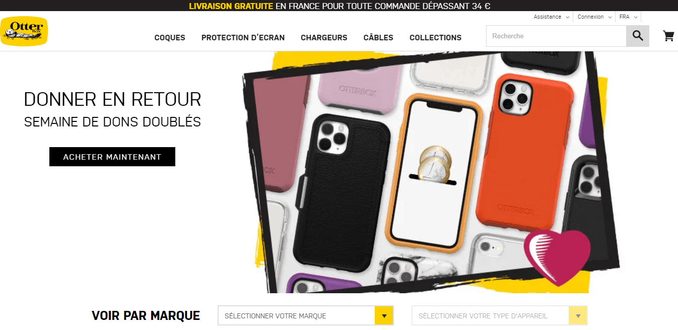 Page d'accueil Otterbox