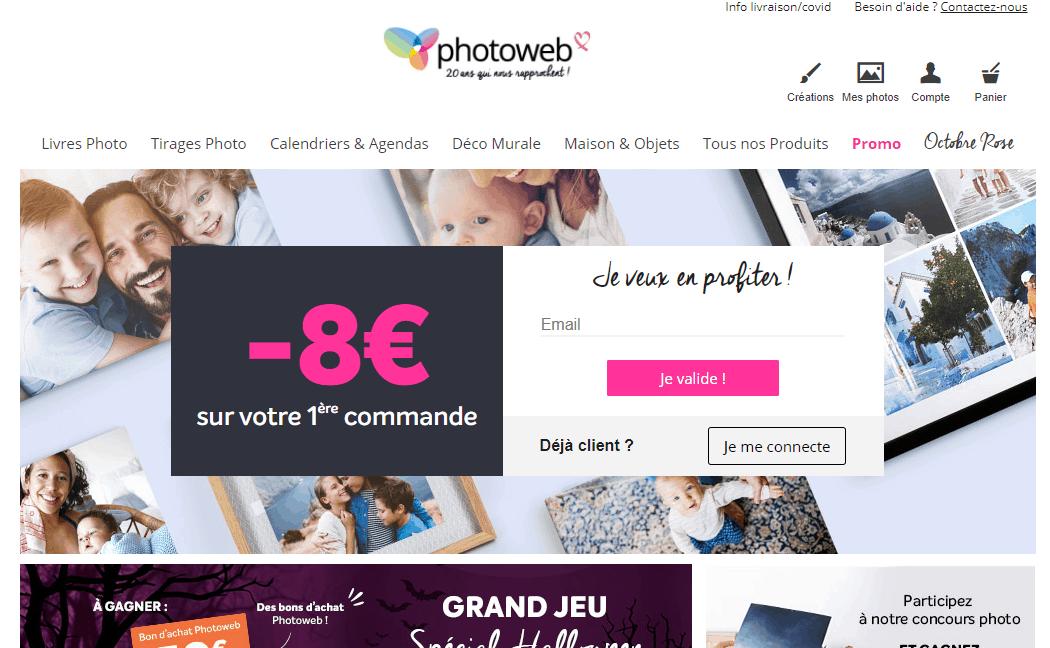 Page d'accueil photoweb