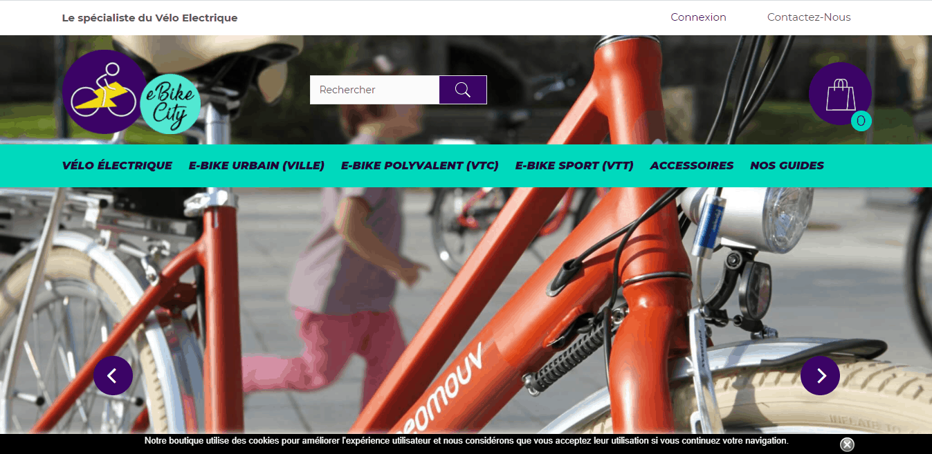 Page d'accueil ebike-ciry