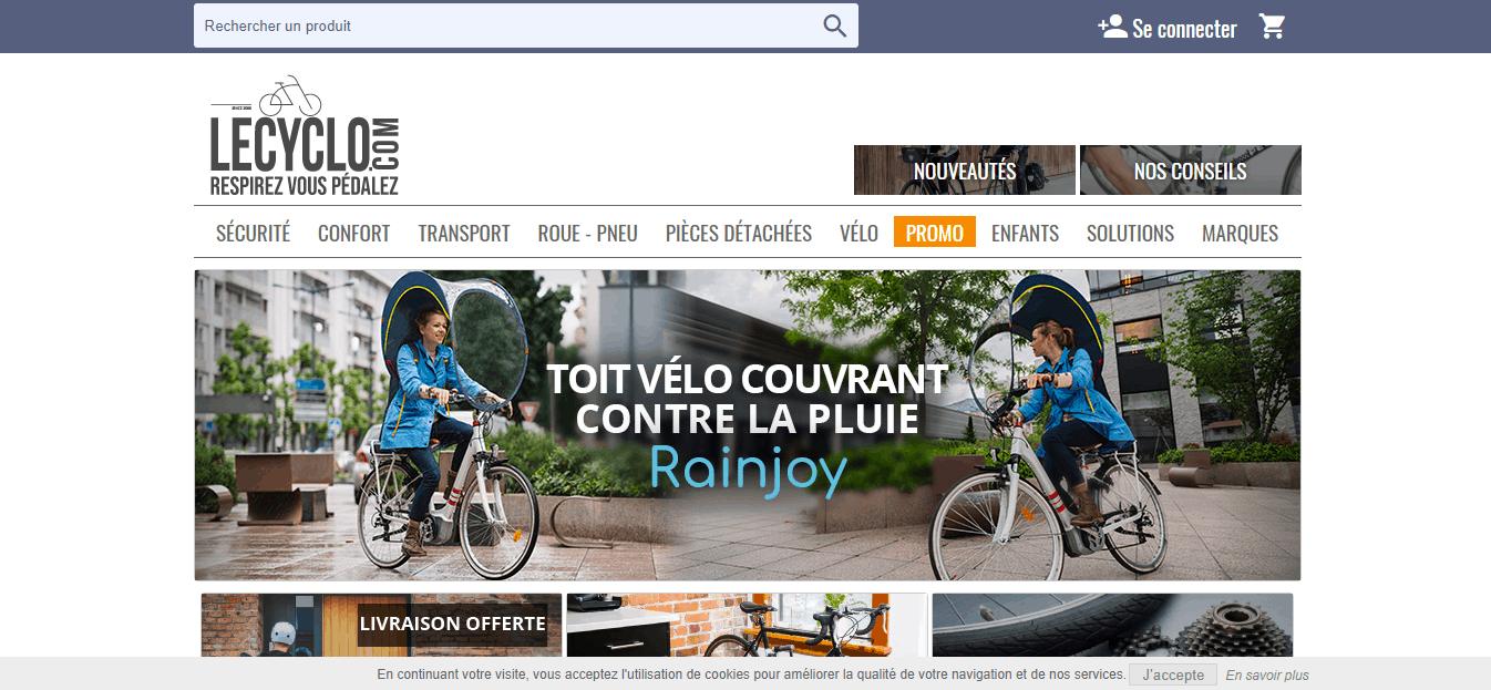 Page d'accueil le cyclo