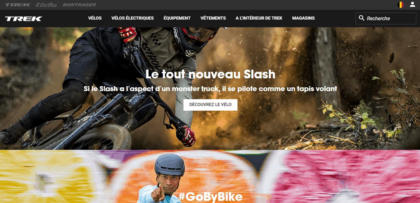 Page d'accueil Trekbikes