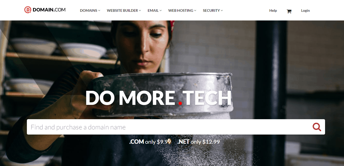 Page d'accueil domain.com