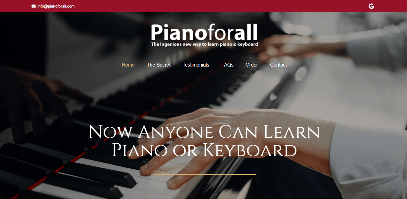 Page d'accueil Pianoforall