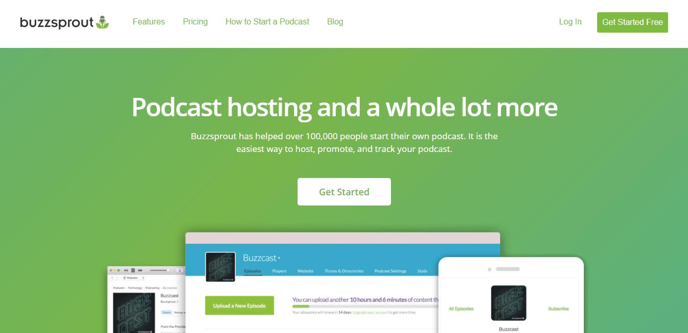 Page d'accueil Buzzsprout