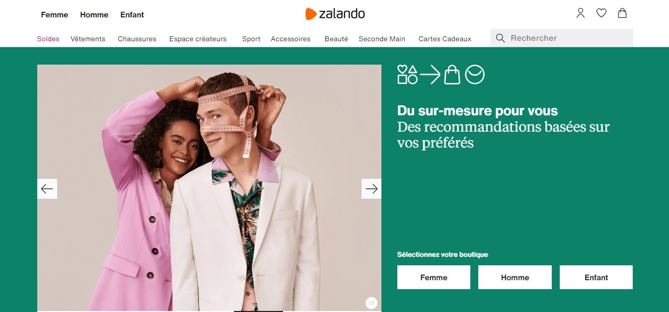 accueil zalando