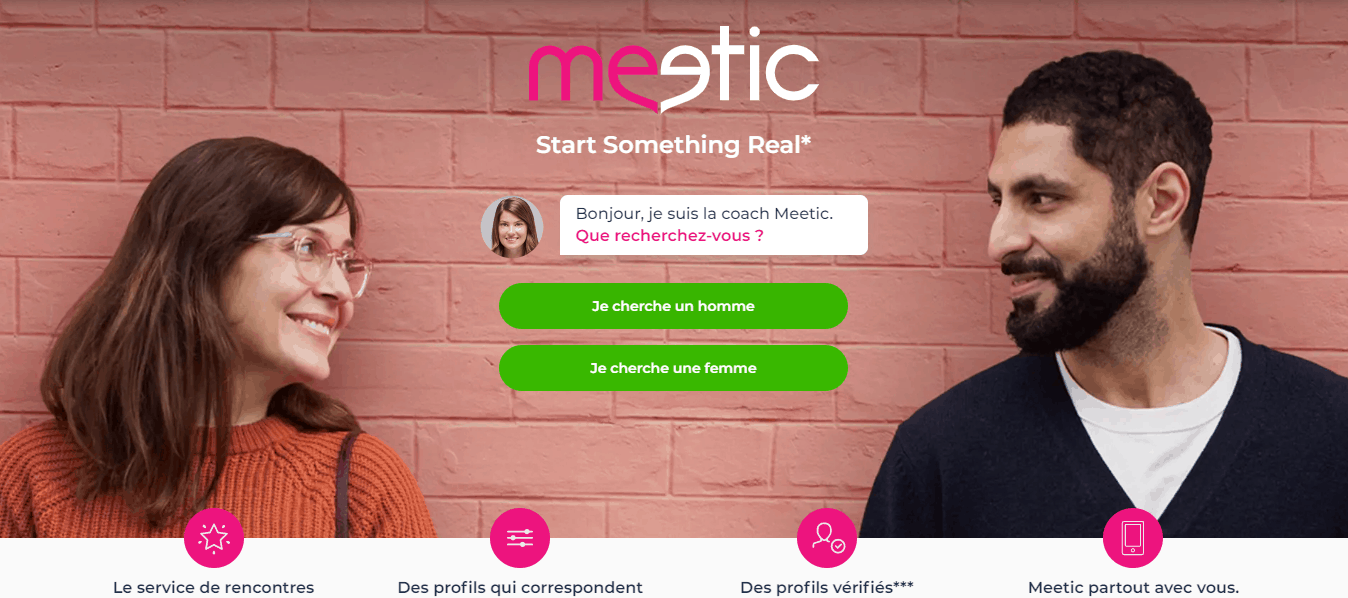 Page d'accueil Meetic