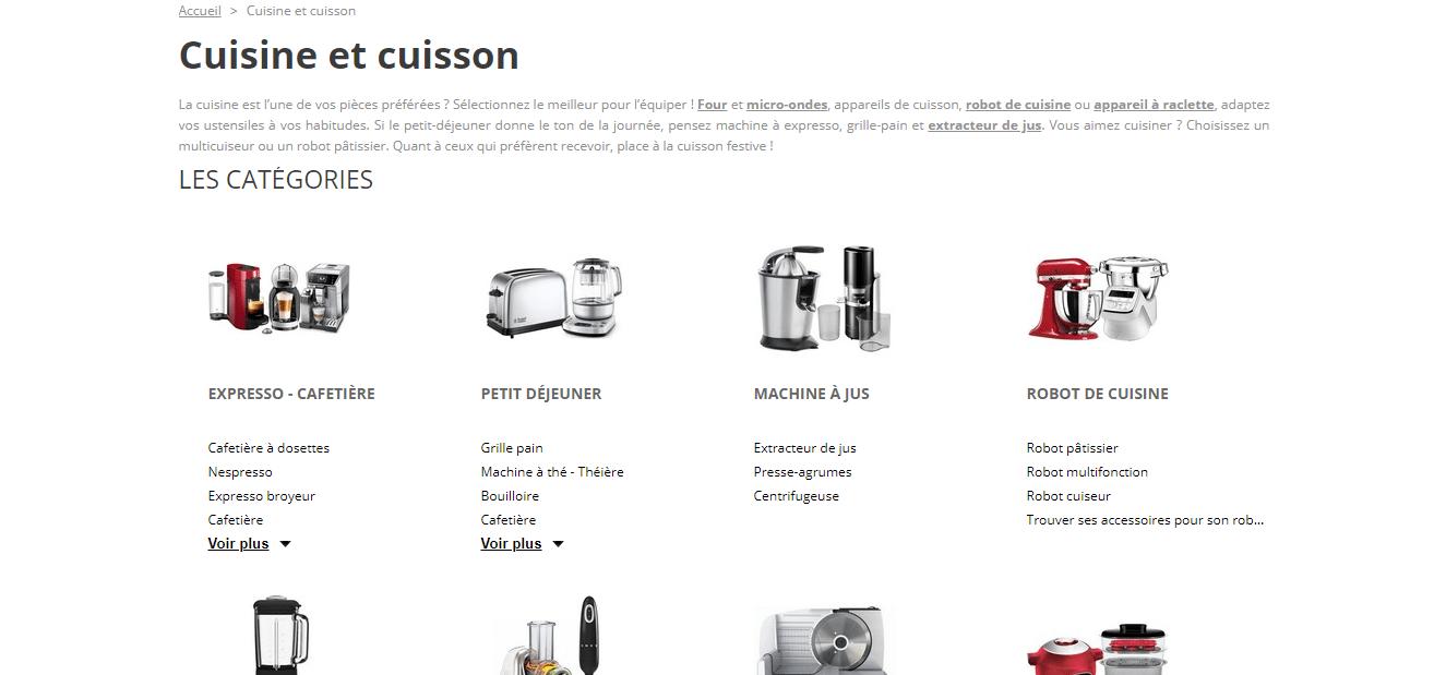 Page d'accueil Boulanger